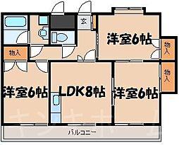 広島県安芸郡海田町西浜の賃貸マンションの間取り
