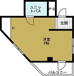 メゾン阿波座[4階]の間取り