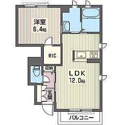 仮)ビューテラスK III[1階]の間取り