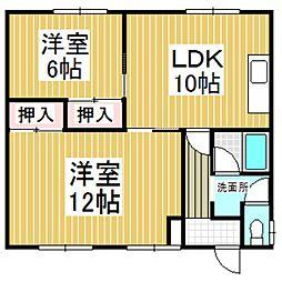 山手桜マンション[202号室]の間取り