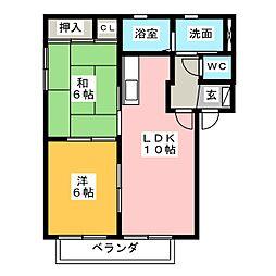 モデルナII[2階]の間取り