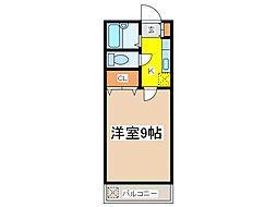 第2白糸台コーポ[2階]の間取り