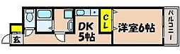 広島県広島市安芸区中野3丁目の賃貸マンションの間取り