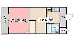 第36長栄ガーデンハイツヤマキ[310号室]の間取り