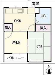 かとれや荘[2階]の間取り