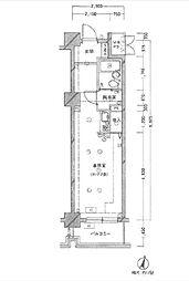 ハーズ横浜ベイガーデン[204号室]の間取り