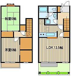 [テラスハウス] 東京都練馬区西大泉4 の賃貸【/】の間取り