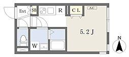 東京メトロ丸ノ内線 四谷三丁目駅 徒歩7分の賃貸マンション 2階ワンルームの間取り