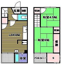 ヴィレッジハウス加賀田 2号棟[1階]の間取り