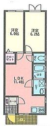 プレジデントマンション衣笠栄町[103号室]の間取り