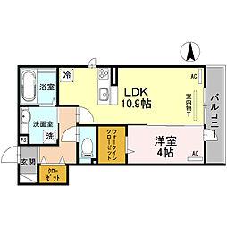 大阪府大阪市平野区喜連西1丁目の賃貸アパートの間取り