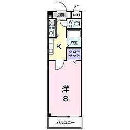 滋賀県彦根市銀座町の賃貸マンションの間取り
