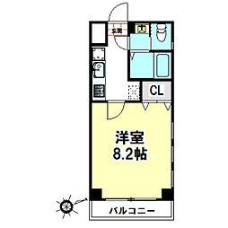 栗林第6ビル[305号室]の間取り
