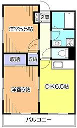 サンライズ田無III[3階]の間取り