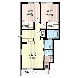 SBKファルス II番館[1階]の間取り