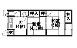 高富荘[101号室]の間取り