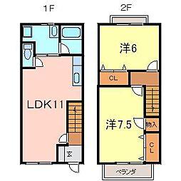 [テラスハウス] 愛知県刈谷市高松町5丁目 の賃貸【/】の間取り