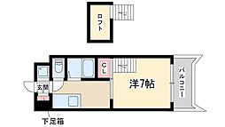 Osaka Metro御堂筋線 新大阪駅 徒歩18分の賃貸マンション 8階1Kの間取り