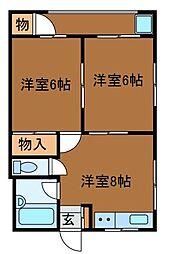 椿マンション[3階]の間取り