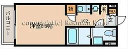 カーサ王塚台[402号室]の間取り