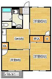 パディ・ハウス三浦A[201号室]の間取り