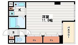 アメニティ北久宝寺[2階]の間取り