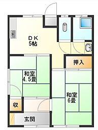 橋本アパート[1階]の間取り