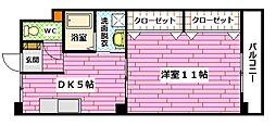 広島県広島市安佐南区中須2の賃貸マンションの間取り