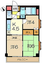ピュアパレス[6階]の間取り