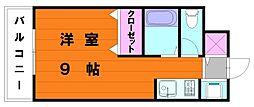 シールズ八田[2階]の間取り