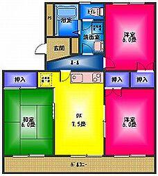 長谷川マンション1[2階]の間取り