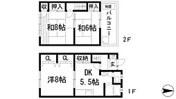 [テラスハウス] 兵庫県川西市南花屋敷3丁目 の賃貸【/】の間取り