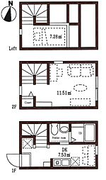 ハーミットクラブハウス八雲[2階]の間取り