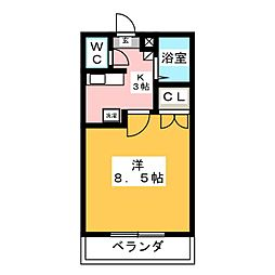 カレッジハイツ六反田[2階]の間取り
