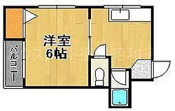 リベラルコーポA[4階]の間取り