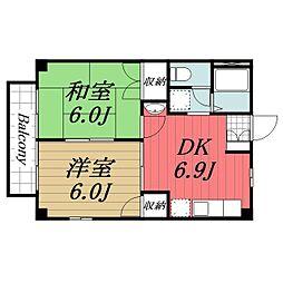 千葉県成田市囲護台2の賃貸アパートの間取り