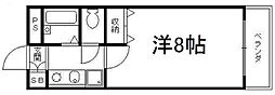 京都府京都市伏見区新町14丁目の賃貸マンションの間取り