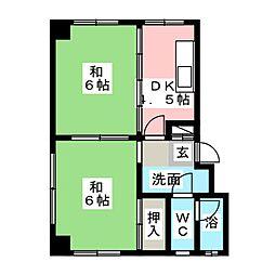 千丸マンション[1階]の間取り