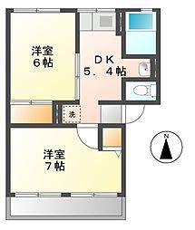 ソファレ鎌田[2階]の間取り