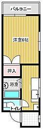 広島県呉市本通2丁目の賃貸マンションの間取り