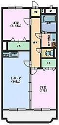 広島県東広島市西条町寺家の賃貸マンションの間取り