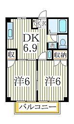 メゾン・ド・コホクB[2階]の間取り