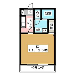 ヴラージュ上野[1階]の間取り