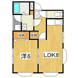 コーポミヨ[1階]の間取り