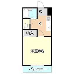 メゾンドパル[2階]の間取り