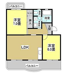Eマンション[301号室]の間取り