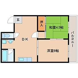 Yパークサイドマンション[302号室]の間取り