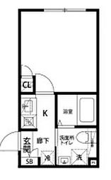 プロスペリティ・カーサ下北沢 2階1Kの間取り
