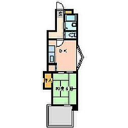 パラツィーナエスタ立花3[3階]の間取り