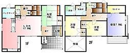 [一戸建] 茨城県ひたちなか市後野1丁目 の賃貸【/】の間取り